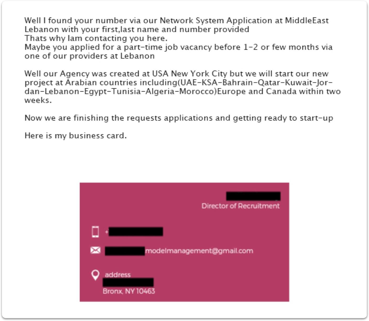 scam example 2